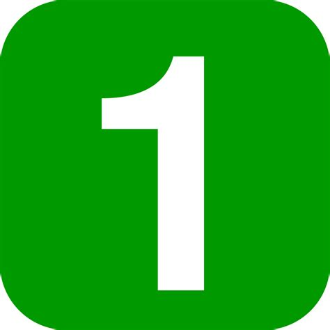 Green Mba Number 1 by Fichier Number 1 In Green Rounded Square Svg Wikilivres