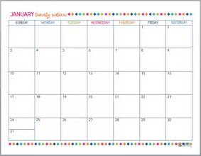 Free Downloadable 2015 Calendar Template by 2016 Free Printable Calendars Crafting In The