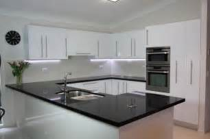 Black Benchtop White Cupboards Classic Style That Never Bathroom Benchtops Sydney
