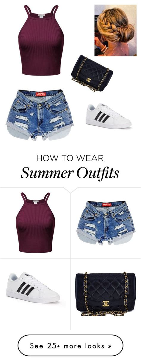 "Summer Outfits : ""Summer outfit"" by mfowkes on Polyvore featuring adidas and Chanel    Fashion"