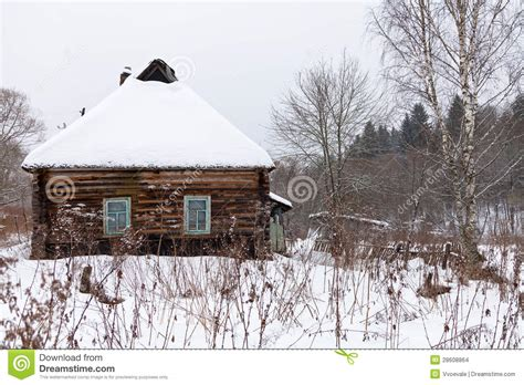 wooden russian house in winter covered with snow stock snow covered wooden rustic house stock images image
