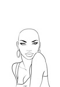 how to draw fashion templates how to draw afro hair in fashion design sketches step by