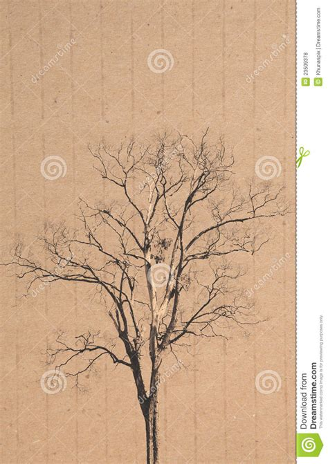 Tree Used For Paper - tree on recycle paper background royalty free stock