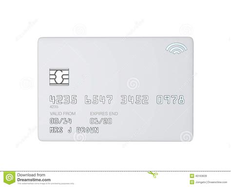 Blank White Template For A White Credit Card Stock Illustration Illustration 40163639 Credit Card Design Template