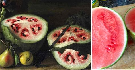 History Of The Watermelon | a 17th century stanchi painting reveals the rapid change
