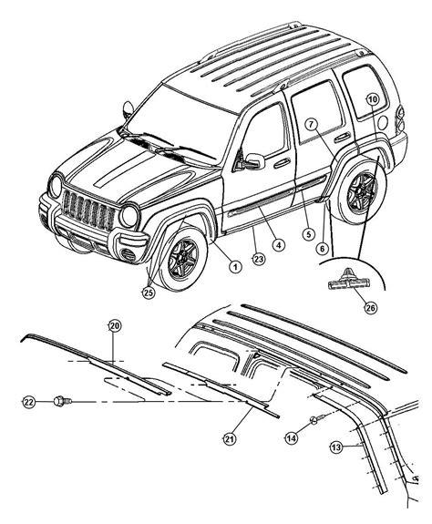 2002 jeep liberty parts diagram 2002 2007 jeep liberty kj replacement parts quadratec