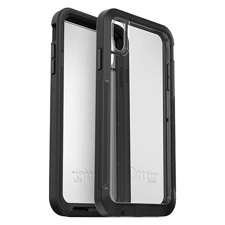 otterbox pursuit series iphone xr tough black clear