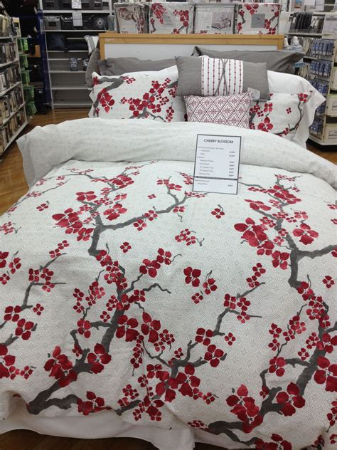 Cherry Blossom Bedding Set So In Cherry Blossom Duvet Comforter Set By N Natori In White Grey As Seen Here