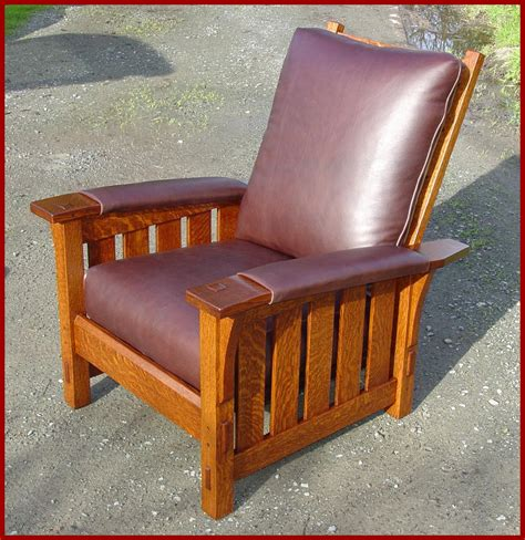 reclining morris chair voorhees craftsman mission oak furniture gustav stickley