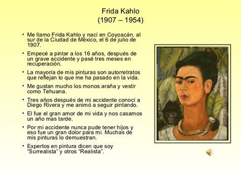 frida kahlo biography en ingles y español pintores de espa 241 a e hispanoam 233 rica