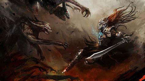 wallpaper abyss warrior fantasy warrior wallpaper