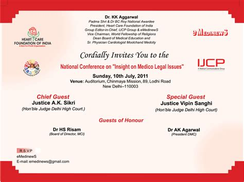 Invitation Letter Format For Doctors Cme Dr K K Aggarwal