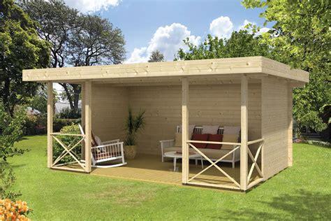 Flachdach Pavillon 3x4 by Konstantin Modern Gazebo Log Cabin
