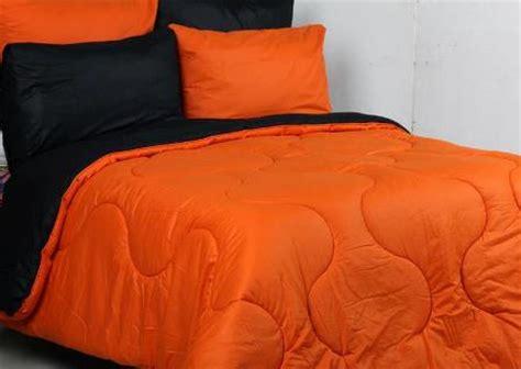 Sprei Vallery Orange Uk 120 seprei dan bedcover polos orange mix hitam toko bunda