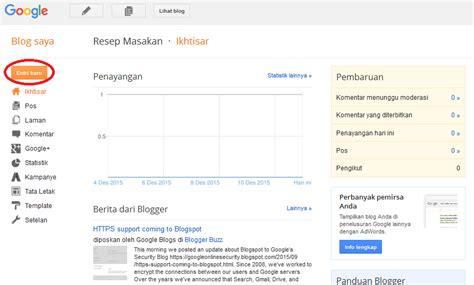 membuat blog free cara membuat blog sendiri di blogger terbaru free