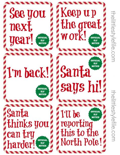 printable elf on the shelf image history printables elf movie quotes quotesgram