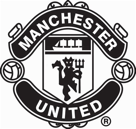 Kemeja Bola Real Madrid Black Line White manchester united logo black and white pictures to pin on