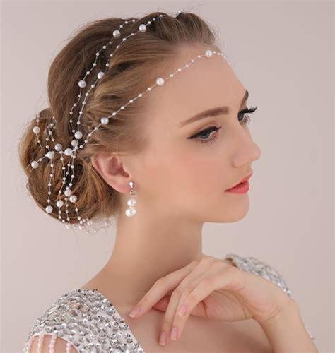 bridal black hair services arlington tx aliexpress com buy pearl chain bride headdress ornaments
