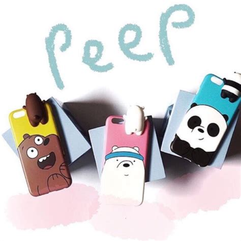 Doll 3d We Bare Bears we bare bears doll 3d peep iphone oppo a37 vivo v5