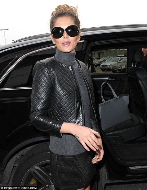 Jaket Uber Not By Kaoskushop cheryl cole wears leather jacket and miniskirt as struts