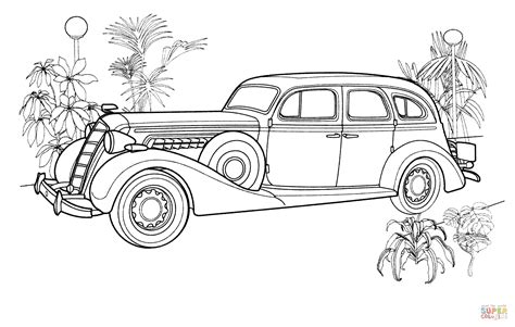 coloring page of old car vintage car coloring page free printable coloring pages