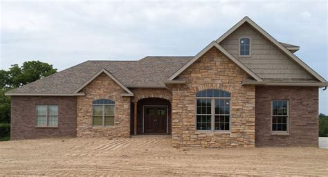 classic brick ranch house plan with basement the