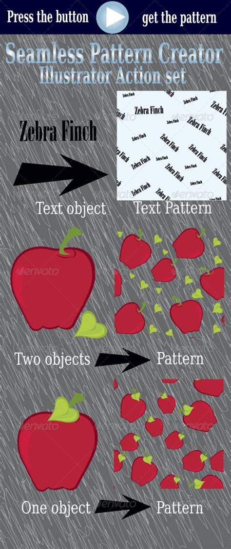 pattern maker illustrator action seamless pattern creator illustrator action set