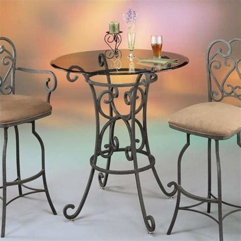 36 Glass Dining Table Magnolia 36 Quot Glass Top Dining Table In Autumn Rust Qlma5203390000 Kit