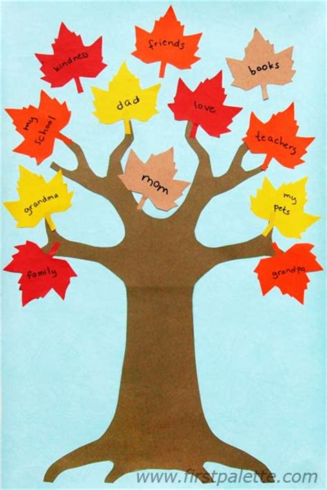 Thankful Tree Template thankful tree craft crafts firstpalette