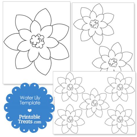 Paper Water Template Printable Water Lily Template Printable Treats Com
