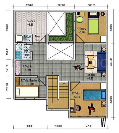httpinrumahminimaliscom denah rumah sederhana  kamar tidur rumah minimalis pinterest