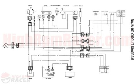 wiring diagram for baja 150cc atvs