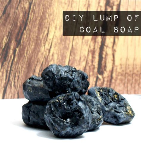 santa s lump of coal soap recipe