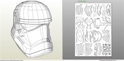 stormtrooper helmet template papercraft pdo file template for wars ep 7