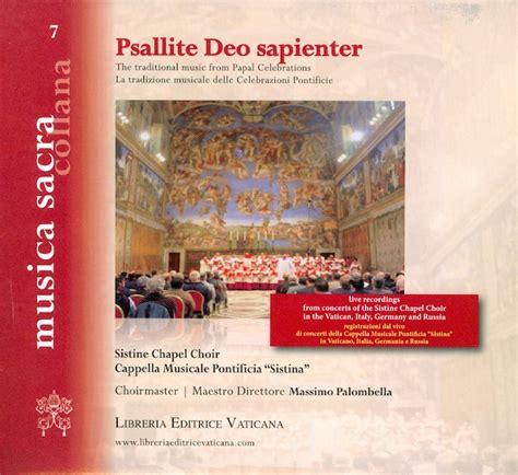 libreria editrice vaticana catalogo psallite deo sapienter cd vaticanum