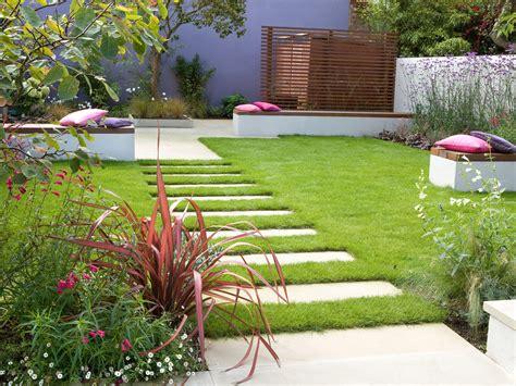 superb Small Backyard Pavers Ideas #4: Rectangular-Concrete-Paver-Pathway-for-contemporary-garden.jpg
