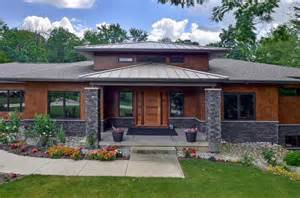 prairie style homes classic interior design and modern house with terrace also green grass and paving also