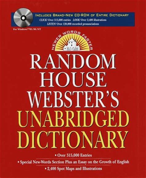 Random House Dictionary random house webster s unabridged dictionary and cd rom
