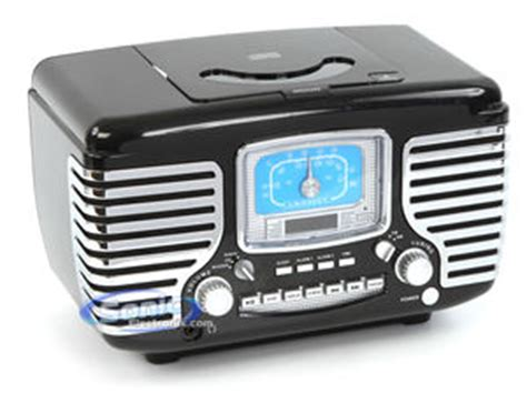 crosley corsair cr612 bk black dual alarm clock am fm radio cd player