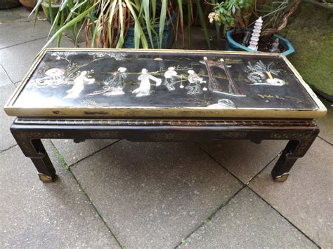 Soapstone Table Top Early C20th Lacquer Low Coffee Table With