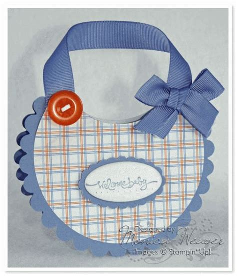 Paper Craft For Boys - baby boy bib card by ratona27 cards and paper crafts at