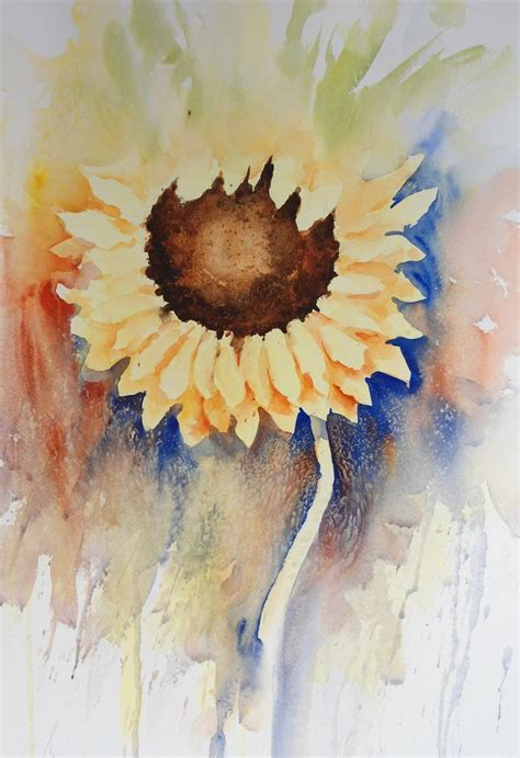 watercolor tutorial sunflowers loose watercolour floral lesson sunflower by joanne