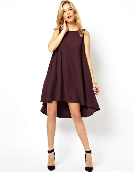 How To Make A Swing Dress asos asos swing dress with dipped hem at asos
