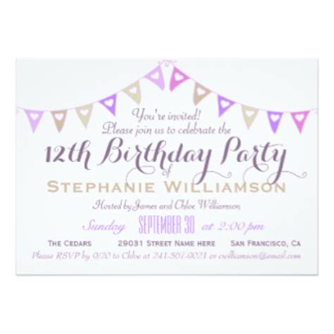 free printable birthday invitations 12 year olds 12 year old birthday invitations dolanpedia invitations