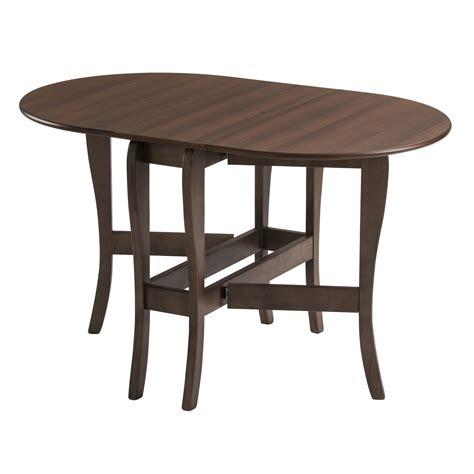 Drop Leaf Gateleg Dining Table Drop Leaf Table Heatproof Folding Dining Kitchen Gateleg Seats 6 Oval Walnut Ebay