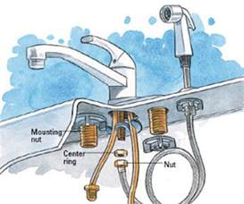 how to replace a kitchen sink faucet how to install a kitchen faucet happily after etc