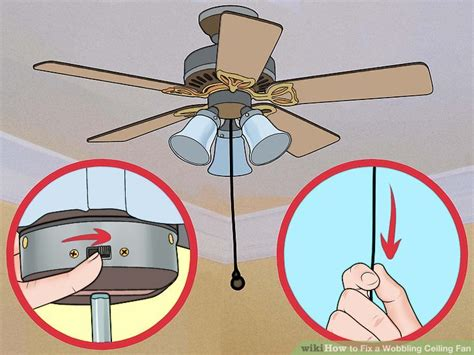 how to fix a ceiling fan 3 ways to fix a wobbling ceiling fan wikihow