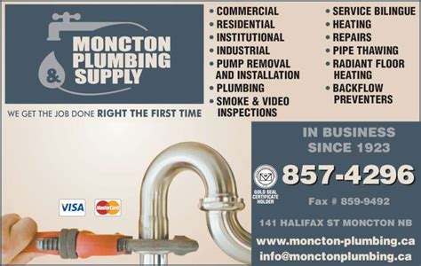 Plumbing Supplies Winnipeg by Moncton Plumbing Supply Co Ltd Facsimile Service