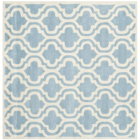 blue square rug safavieh cedar brook teal ivory 5 ft x 5 ft square area rug cdr141a 5sq the home depot