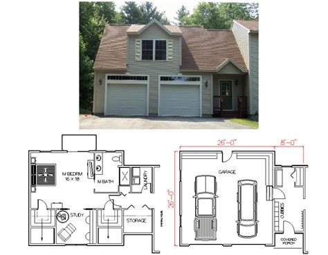 Above Garage Addition Plans by Garage With Master Bedroom Plans By House Calls Inc